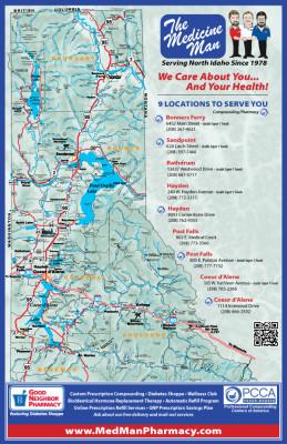 Map Of Northern Idaho North Idaho Maps | FYI North Idaho Map Of Northern Idaho